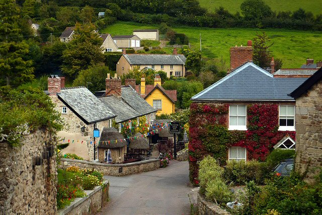The village of Branscombe